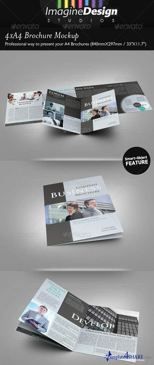 GraphicRiver 4xA4 Brochure Mock-up