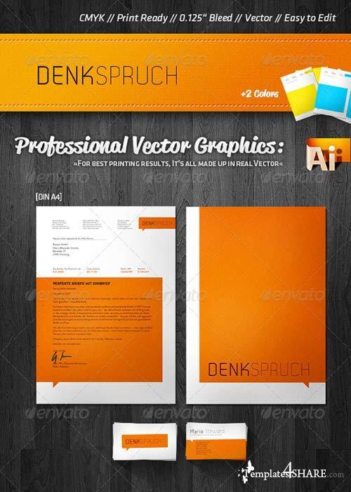 GraphicRiver Fresh Corporate Business Card + Letterhead