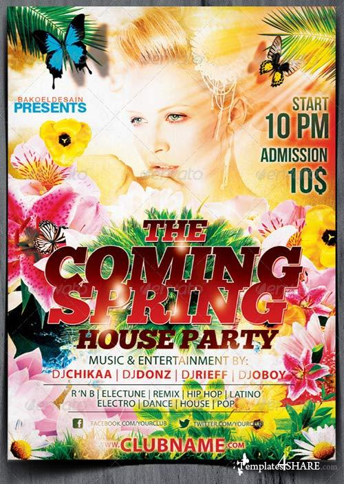 GraphicRiver The Coming Spring Party Flyer