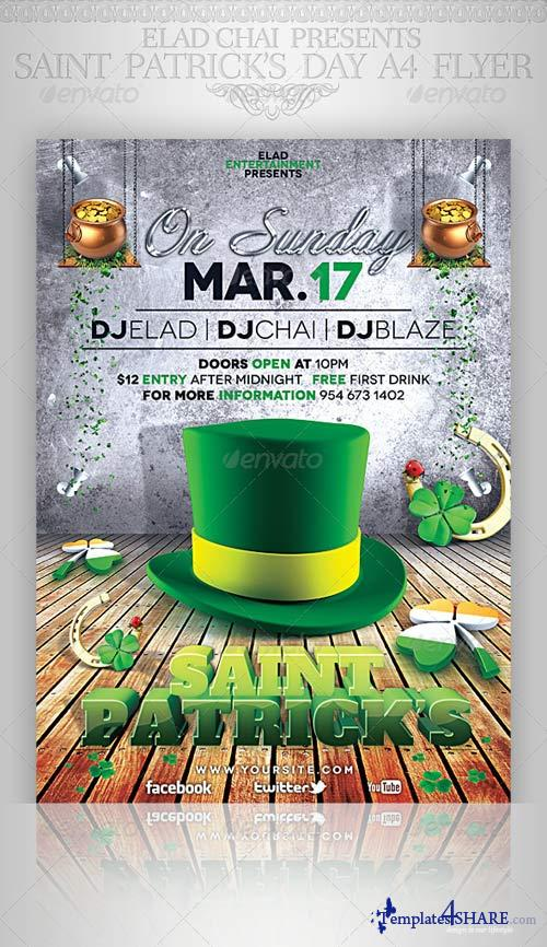 GraphicRiver St. Patrick's Day A4 Flyer Poster Template