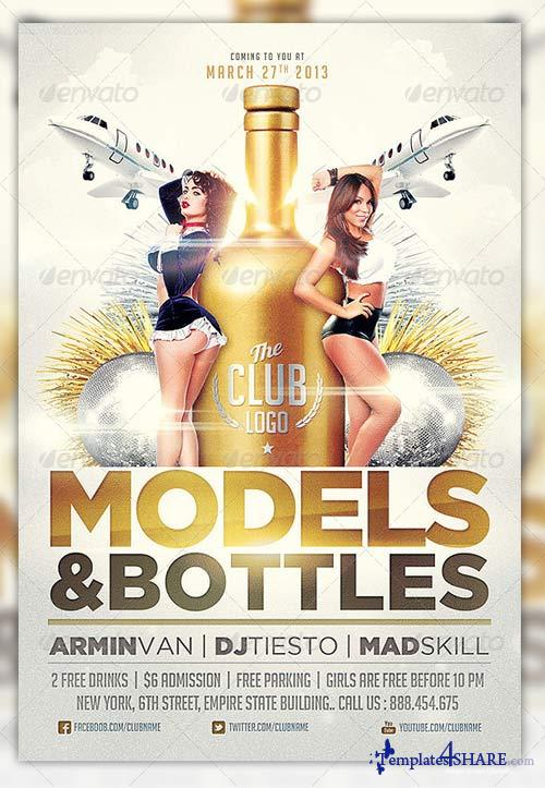 GraphicRiver Models And Bottles Flyer Template Vol.2