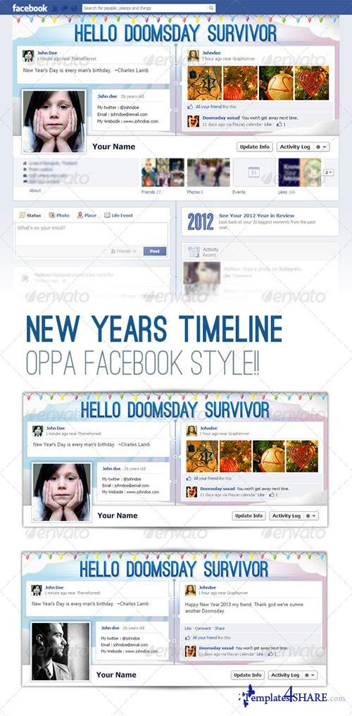 GraphicRiver FB Cover - Timeline