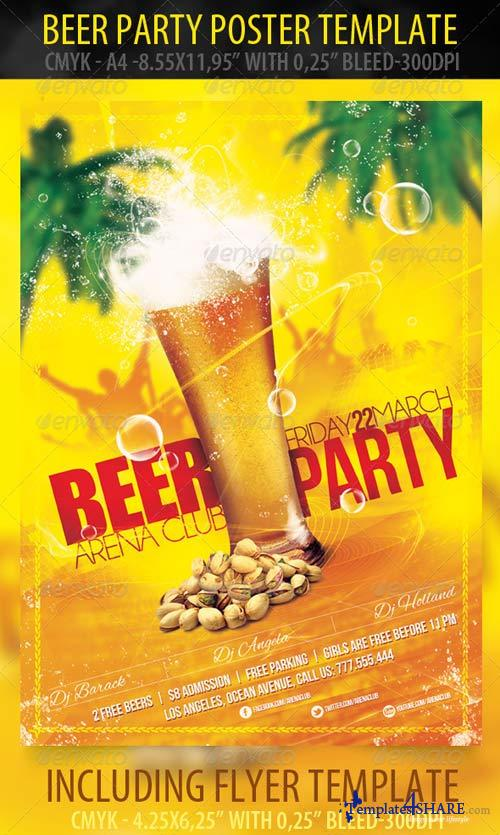 GraphicRiver Beer Party Poster & Flyer Template