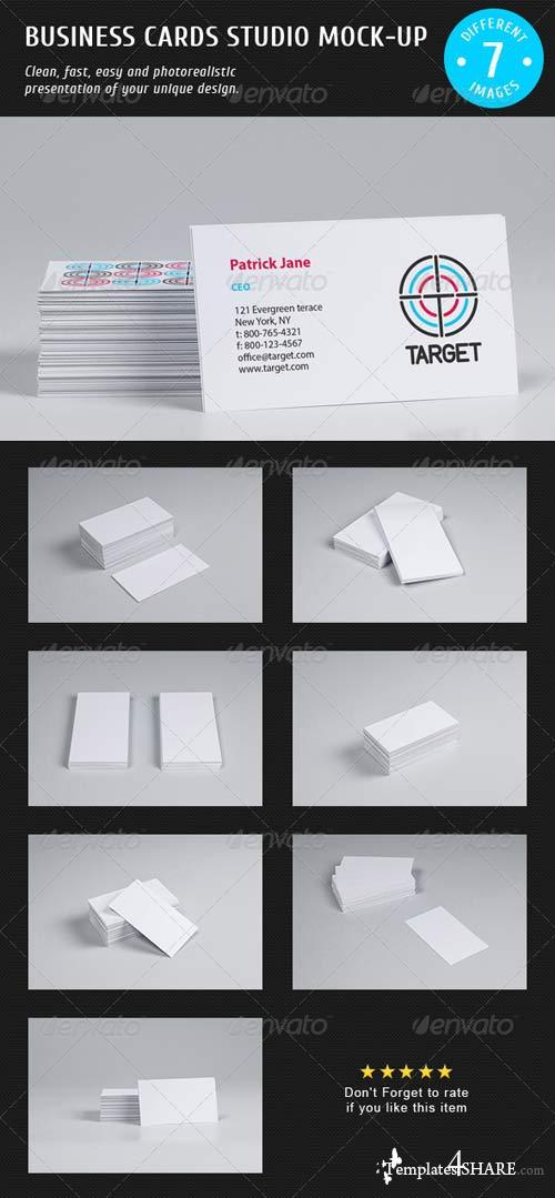 GraphicRiver Business Cards Studio Mock-up