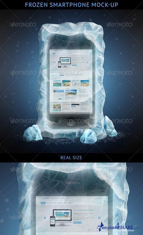 GraphicRiver Frozen Smartphone Mockup