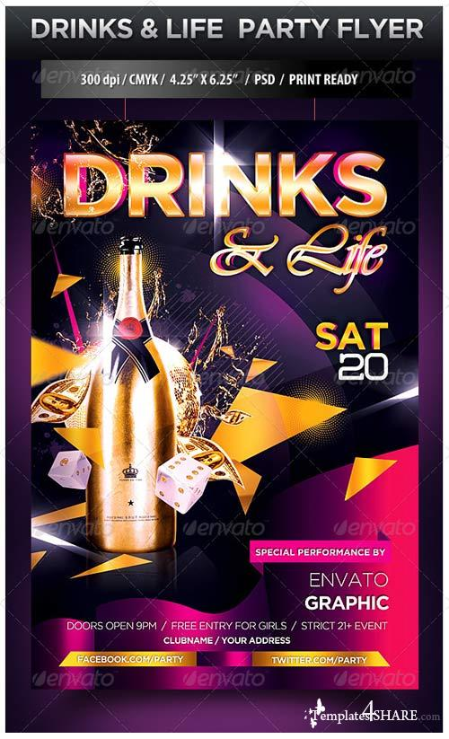 GraphicRiver Girls and Champagne Party Flyer