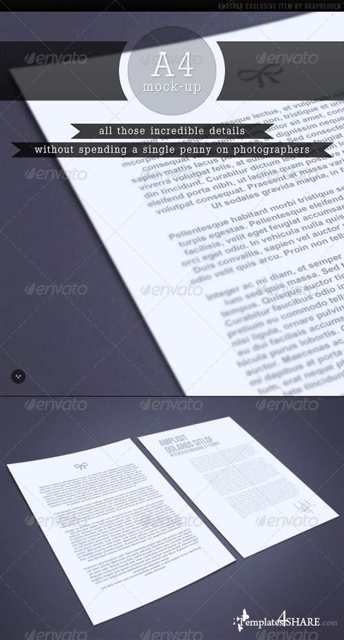 GraphicRiver Pro All Purpose A4 Mock-up