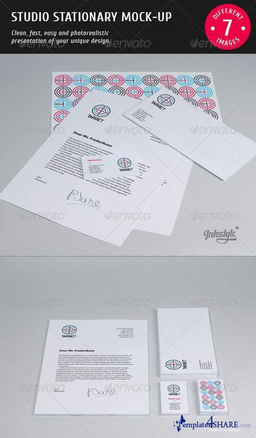 GraphicRiver Studio Stationary Mock-up