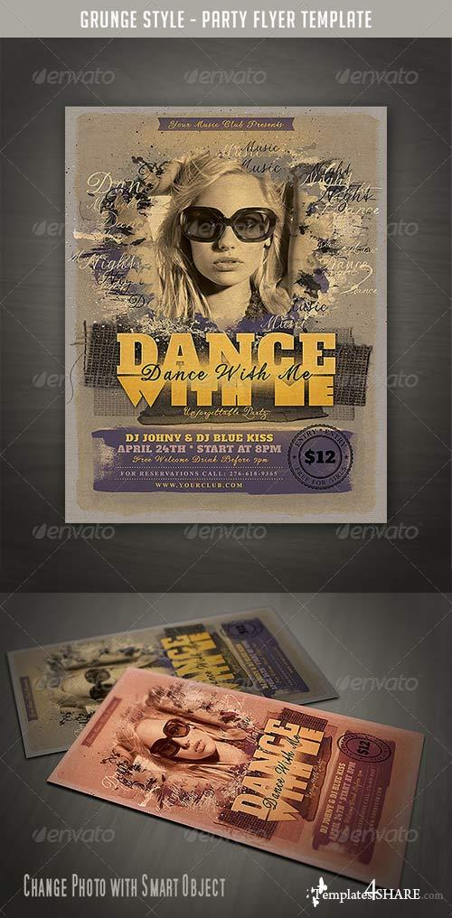 GraphicRiver Grunge Style Party Flyer