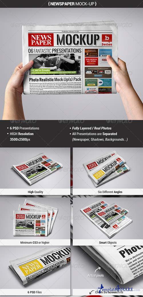 GraphicRiver Newspaper Mock-Up 3952953