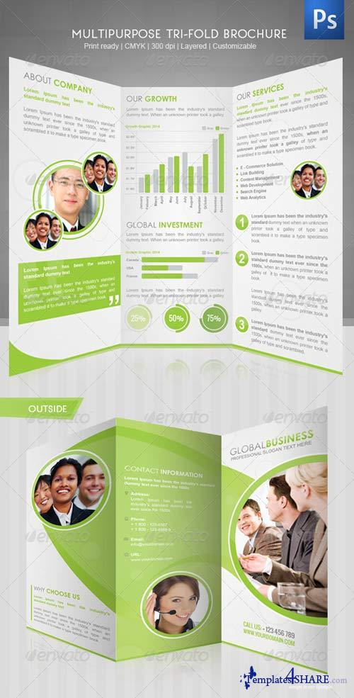 GraphicRiver Corporate Tri-Fold Brochure III