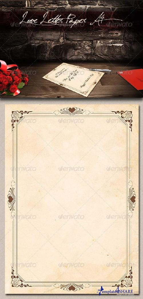 GraphicRiver Love Letter Paper A4
