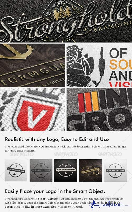 GraphicRiver 5 Realistic Logo/Branding Mock-ups - Layered PSD's