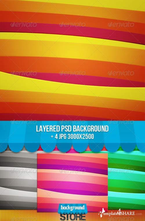GraphicRiver Retro Stripes Backgound