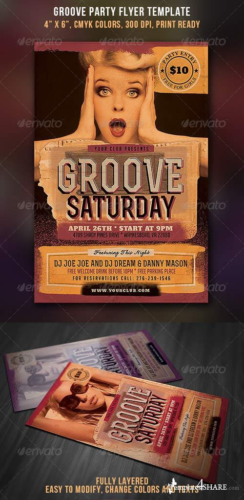 GraphicRiver Groove Party Flyer - Vintage Style