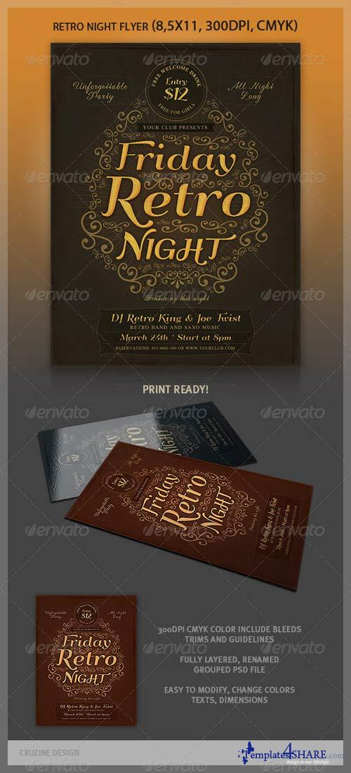 GraphicRiver Typographic Retro Flyer Template