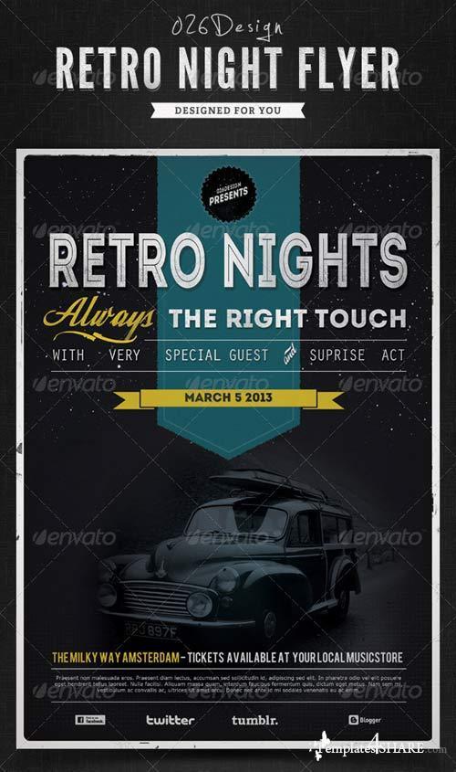 GraphicRiver Retro Nights Flyer / Poster