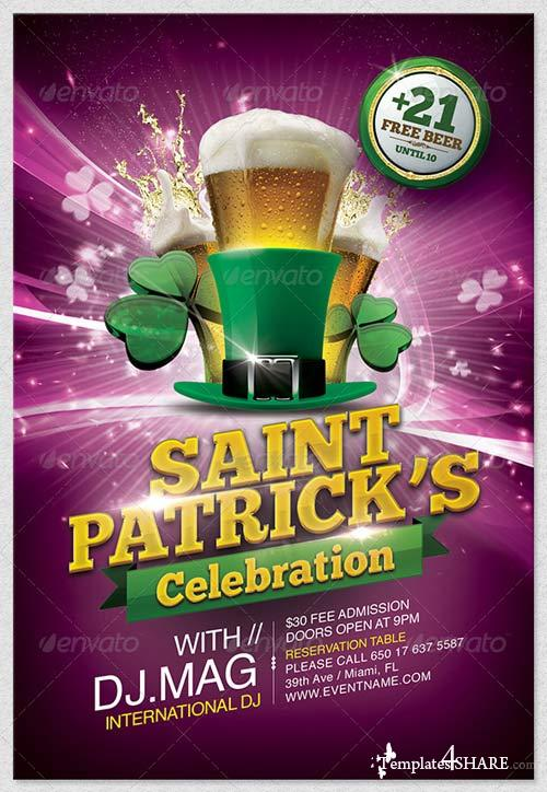 GraphicRiver St. Patrick's Day Flyer Template 3953315