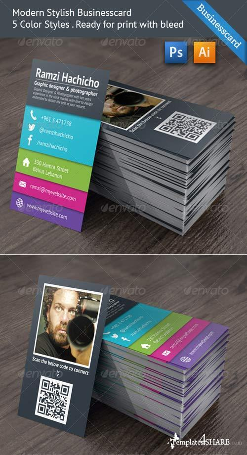 GraphicRiver Modern Stylish Business Card