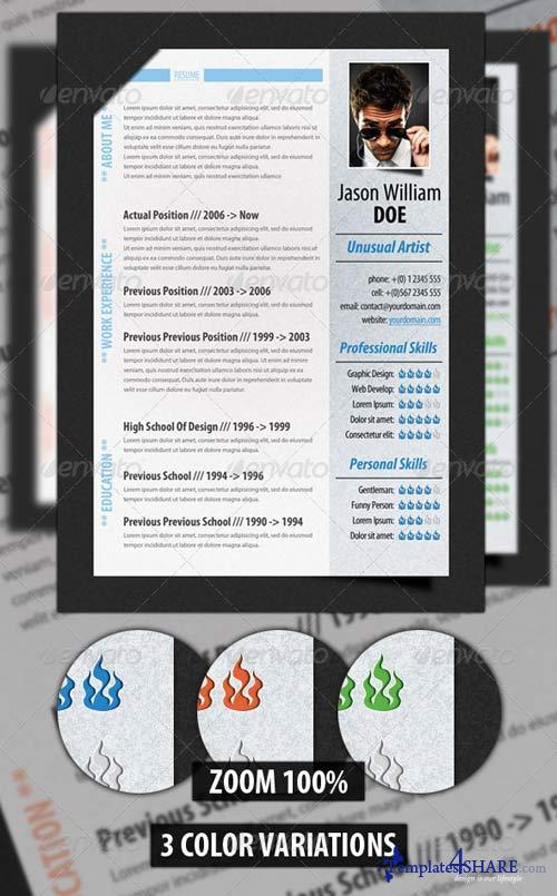 GraphicRiver Modern Resume Template 3958298