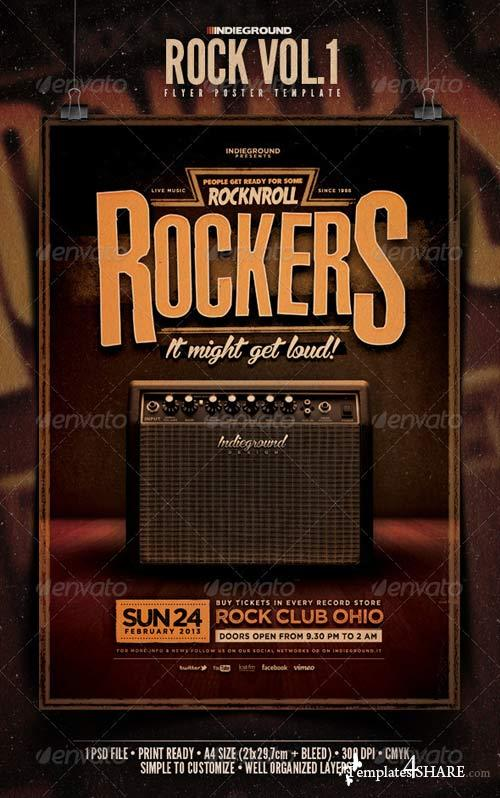 GraphicRiver Rock Flyer/Poster