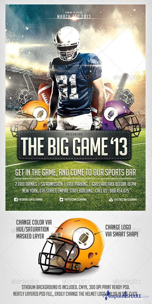 GraphicRiver Big Game Football Flyer Template