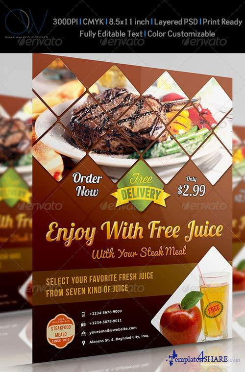 GraphicRiver Steak Restaurant Flyer