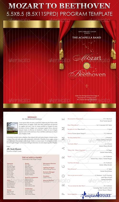 GraphicRiver Mozart to Beethoven Program Template