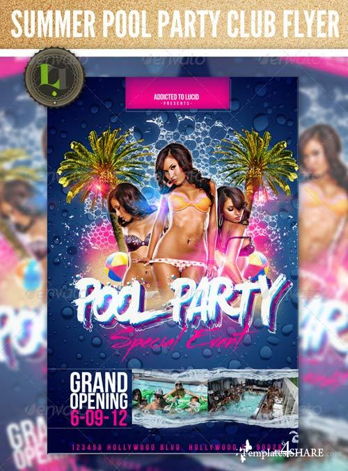 GraphicRiver Summer Pool Party Flyer