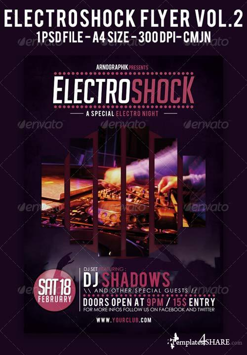GraphicRiver Electroshock Vol.2 Flyer A4