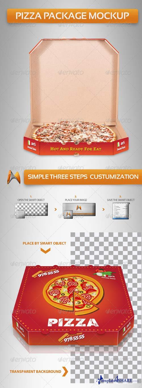 GraphicRiver Pizza Package Mockup