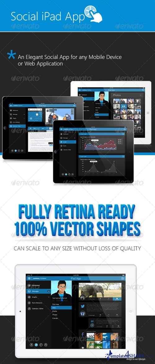 GraphicRiver Pro Retina Pad OS Tablet App & UI Elements