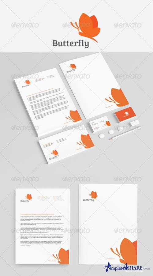 GraphicRiver Butterfly Stationery Vol2