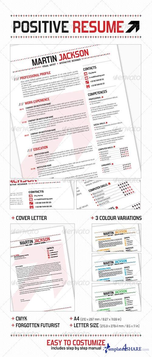 graphicriver positive resume 187 templates4share free