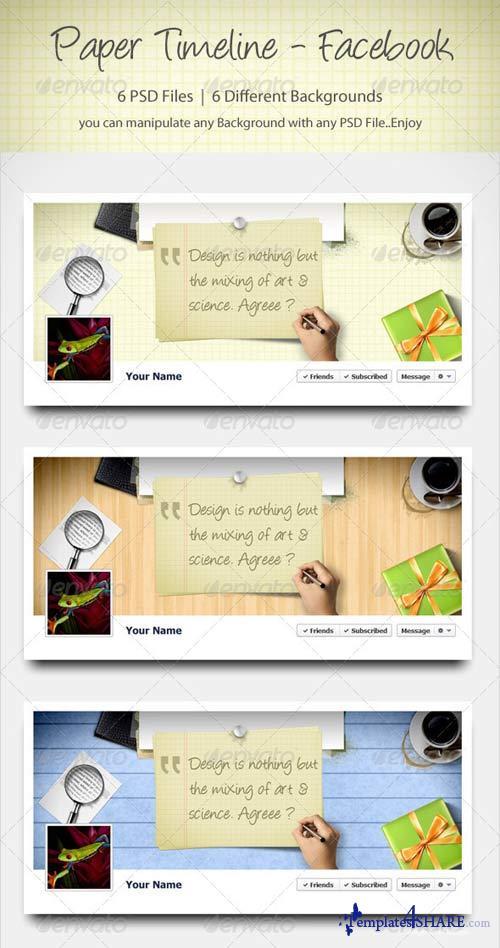 GraphicRiver Paper Timeline - Facebook