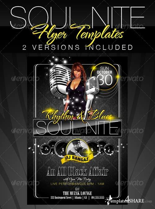GraphicRiver Soul Nite Flyer Templates