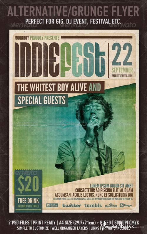 GraphicRiver Indie Fest Flyer/Poster