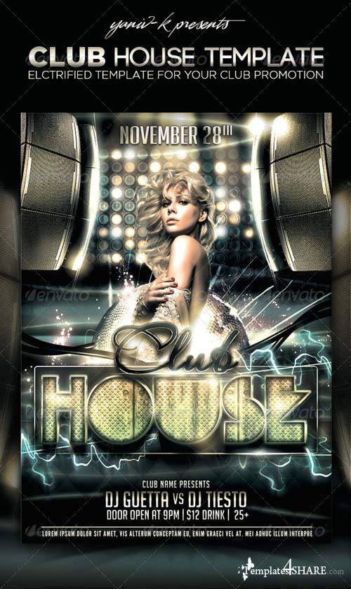 GraphicRiver Club House Flyer Template
