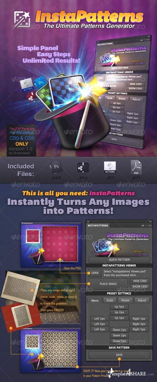 GraphicRiver Instapatterns: Turns Any Images Into Patterns