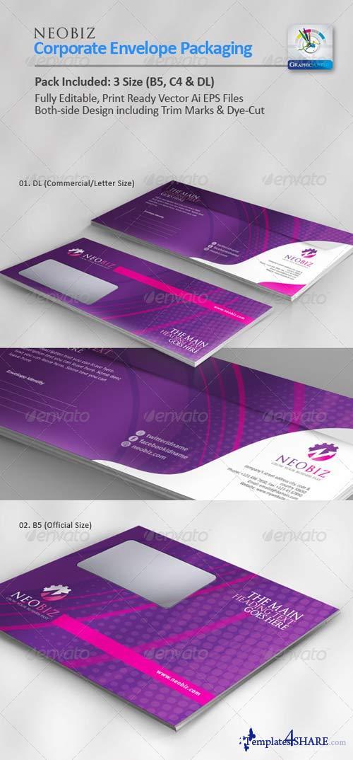 GraphicRiver NeoBiz Corporate Envelope Pack