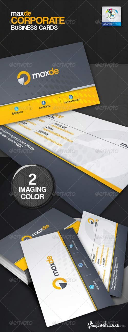 GraphicRiver Maxde Corporate Clean Business Card