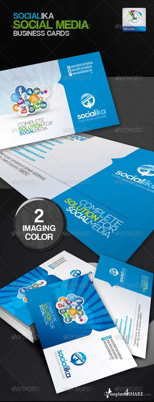GraphicRiver Socialika Social Media Business Card