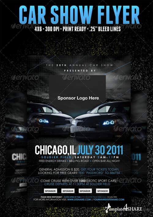 Graphicriver Car Show Flyer Template  TemplatesShareCom  Free