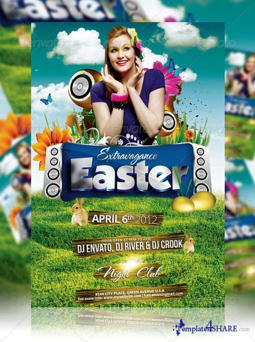 GraphicRiver Easter Bunny Flyer Vol_1