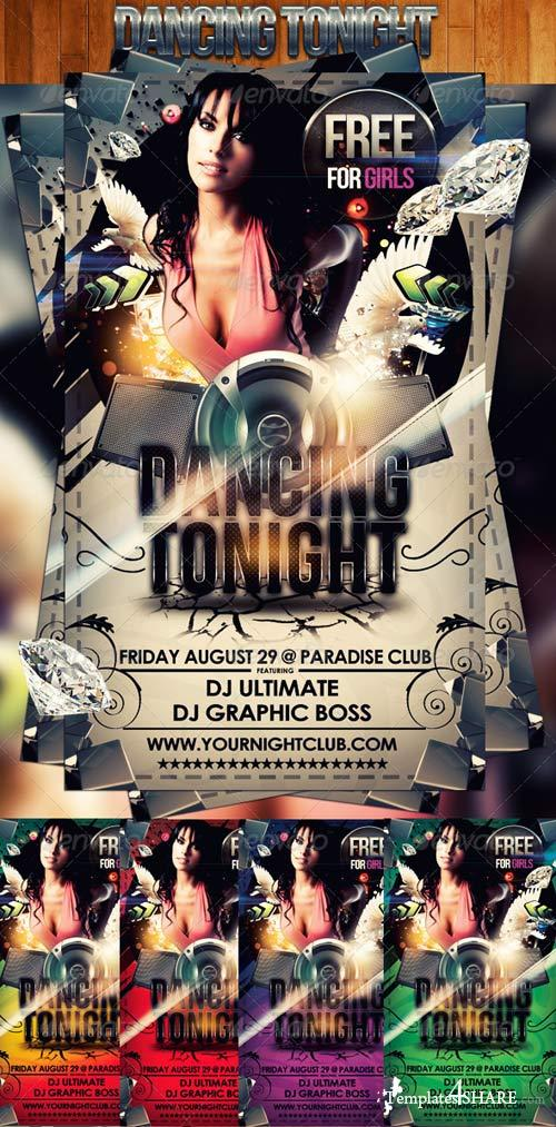 GraphicRiver Dancing Tonight Flyer