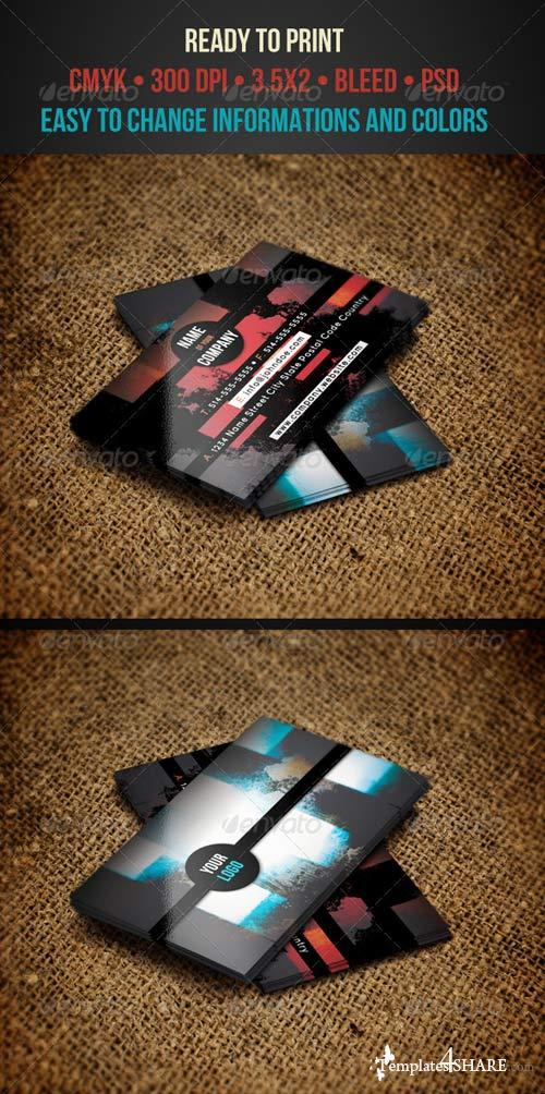 GraphicRiver Grunge Business Cards
