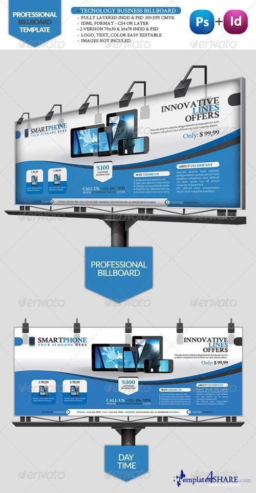 GraphicRiver Tecnology Business Billboard
