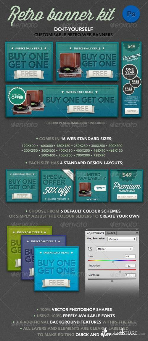 GraphicRiver Retro Banner Kit