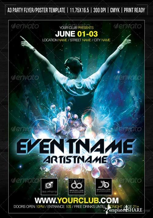 GraphicRiver Nightclub Space Party Poster/Flyer Template