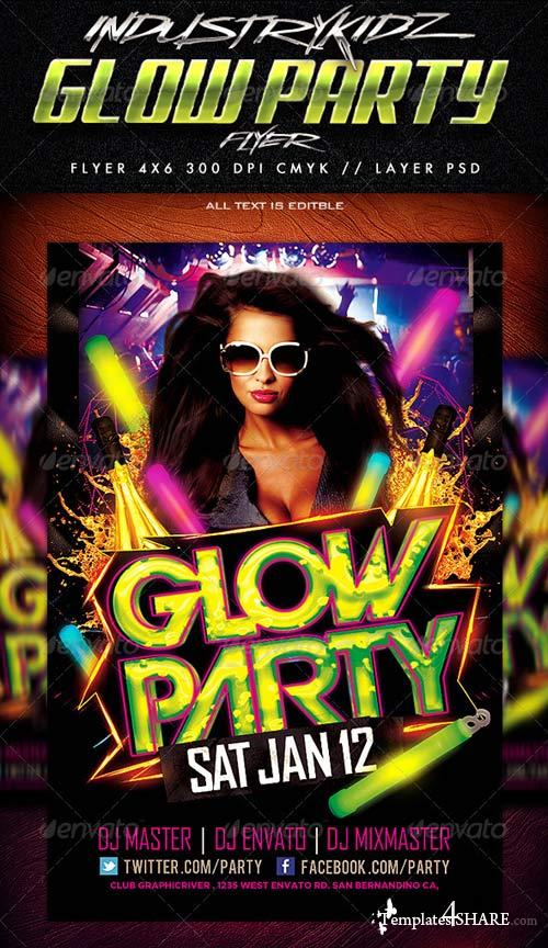 GraphicRiver Glow Party Flyer Template